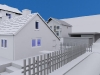 3D House Outdoor Scene
